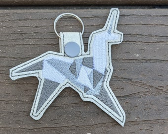 Unicorn KeyChain, Origami Keychain, Blade Runner Charm, Unicorn Charm, Sci-Fi Keychain, Origami Gift, Fantasy Gift, Blade Runner