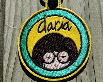 Daria Keychain, Daria Accessory, Daria Charm, Sick Sad World Keychain, Morgendorffer Keychain, Daria Jane, Daria Trent