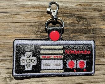 Nintendo Controller Keychain, Classic NES Accessory, Classic NES Charm, Retro Gamer, Nintendo Charm, Gamer Gift, NES Charm