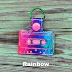 Cassette Tape Keychain, Vintage Keychain, 80's Collectible, Cassette Tape Charm, 80's Charm, I love the 80's, Eighties Collectible, Vintage