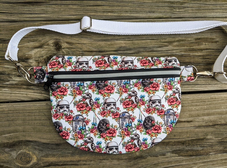 Floral Waist Bag Knitorious Fabric Floral Wars Fanny Pack image 0