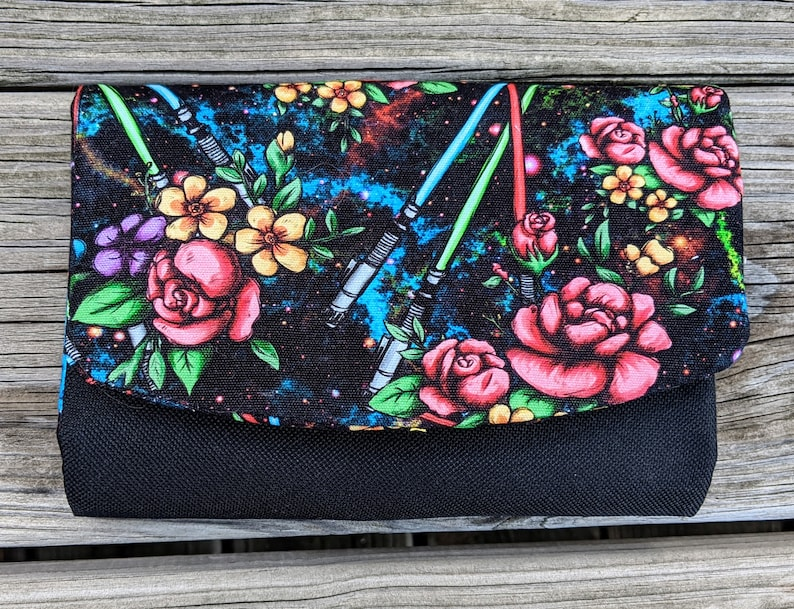 Star Wars Inspired Wallet SW Accessory Black Clutch Boon image 0