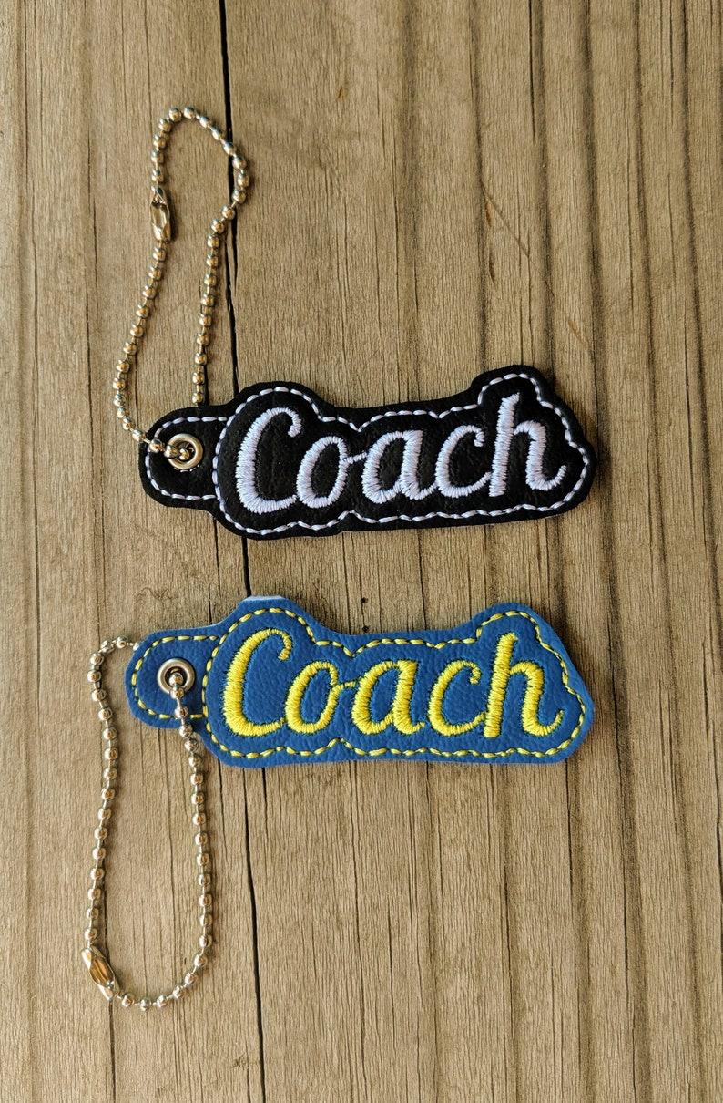 Coach Keychain Coach Gift Coach Accessory Team Sports image 0