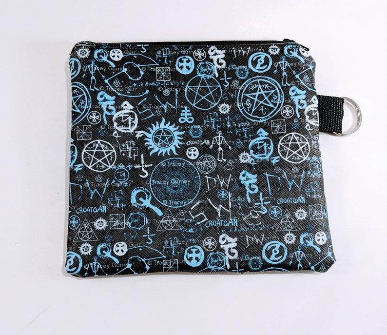 Supernatural bag Vinyl Pouch Cosmetics Bag Zipper Bag image 0