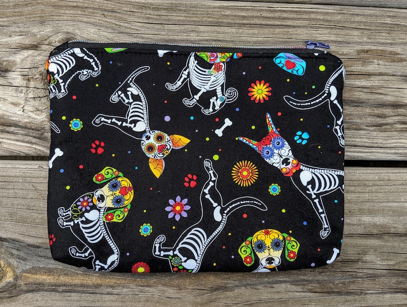 Space Dog Pouch Dog Gift Dog Lover Day of the Dead Dog Dog image 0