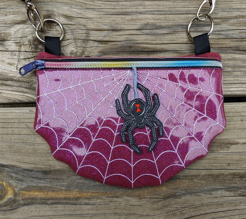 Spiderweb Waist Bag Spider Fanny Pack Halloween Bag Spider image 0