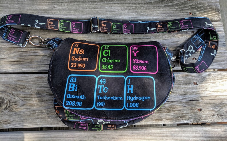 Salty Bitch Periodic Table Science Bag Black Bag Salty image 0