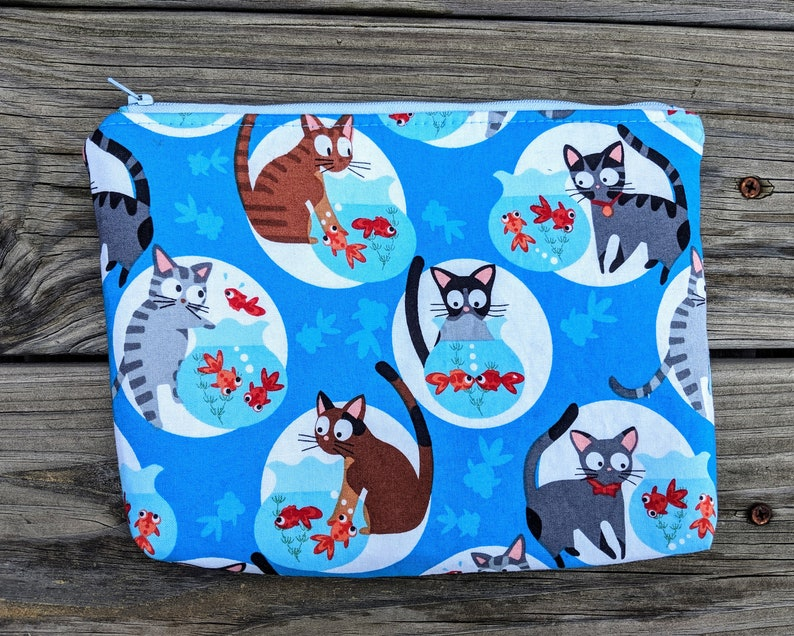 Cat Makeup Case Cat Kindle Cozy Fishbowl Cat Case Cat Bag image 0
