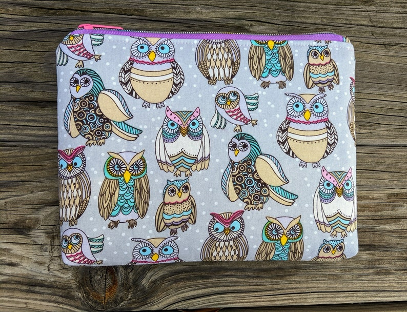 Owl bag Owl Pouch Cosmetics Bag Zipper Bag Essential Oil image 0