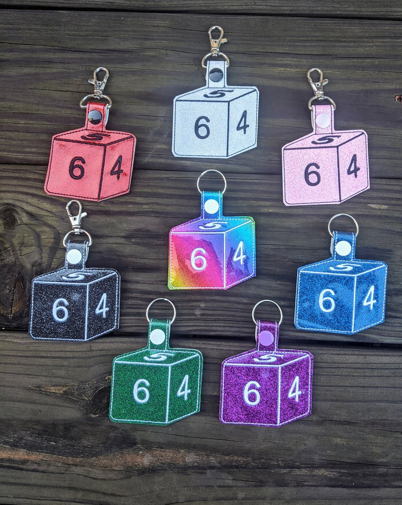 Dice Keychain 6-Sided die D&D Keychain 6-sided dice Board image 0
