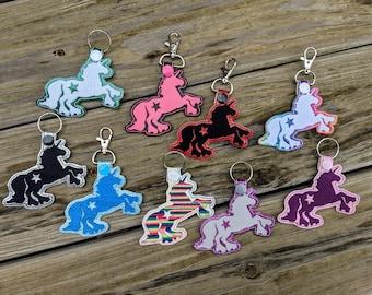 Unicorn KeyChain, Roller Derby Keychain, Roller Derby Charm, Unicorn Charm, Skating Unicorn, Skating Charm, Derby Unicorn, Rollerskate Charm