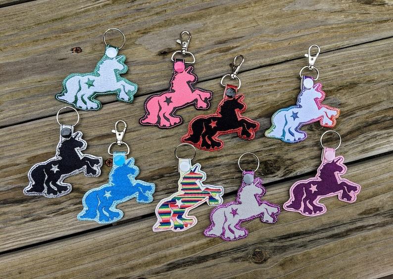 Unicorn KeyChain Roller Derby Keychain Roller Derby Charm image 0