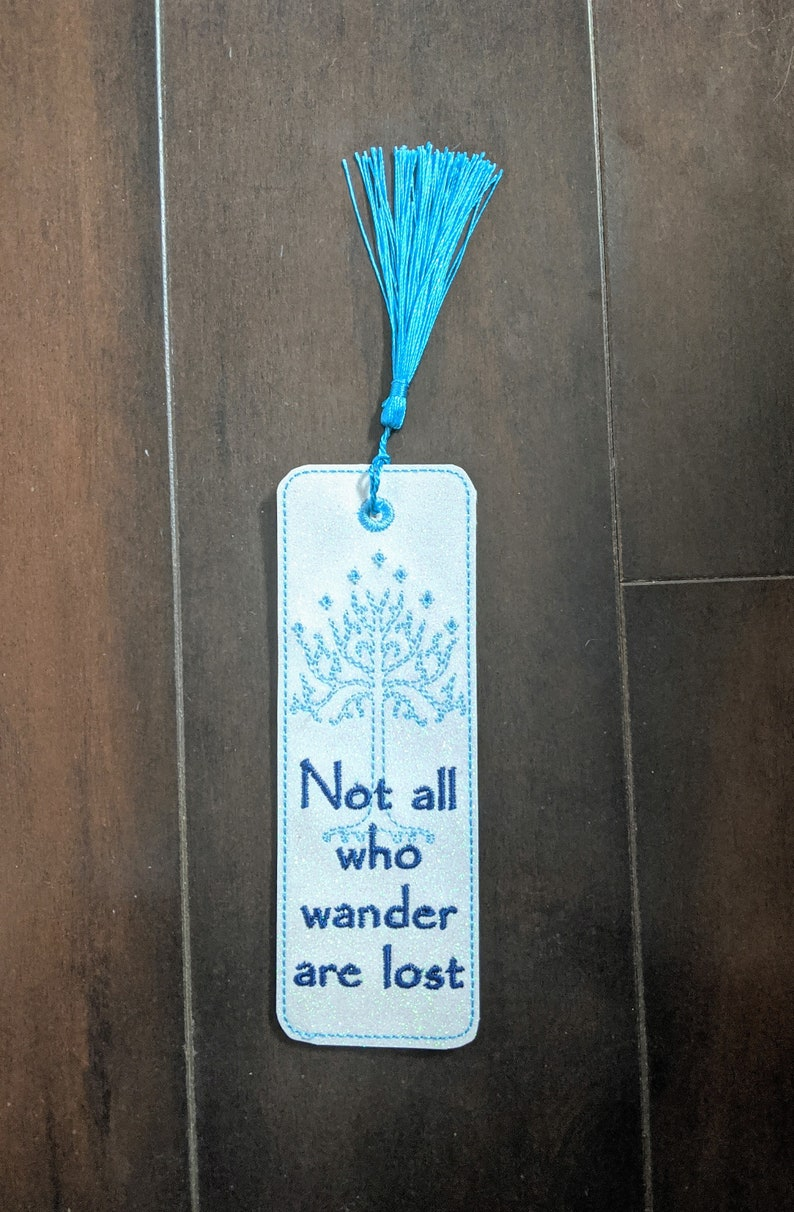 Not All Who Wander are Lost LotR Bookmark Lord of the Rings image 0