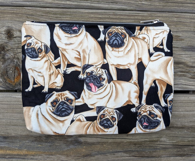 Pug Pouch Dog Gift Dog Lover Pug Bag Dog Charm Dog image 0