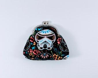 Star Wars Inspired Purse, Change Purse, Star Wars Inspired Gift, Snap Purse, Coin Purse, Darth Vader, Stormtrooper, Sugar Skulls