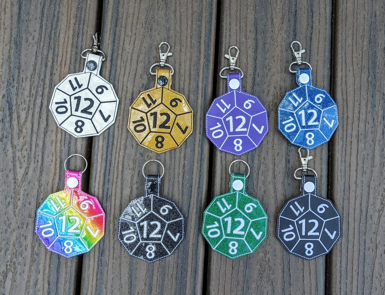 Dice Keychain 12-Sided die D&D Keychain 12-sided dice image 0