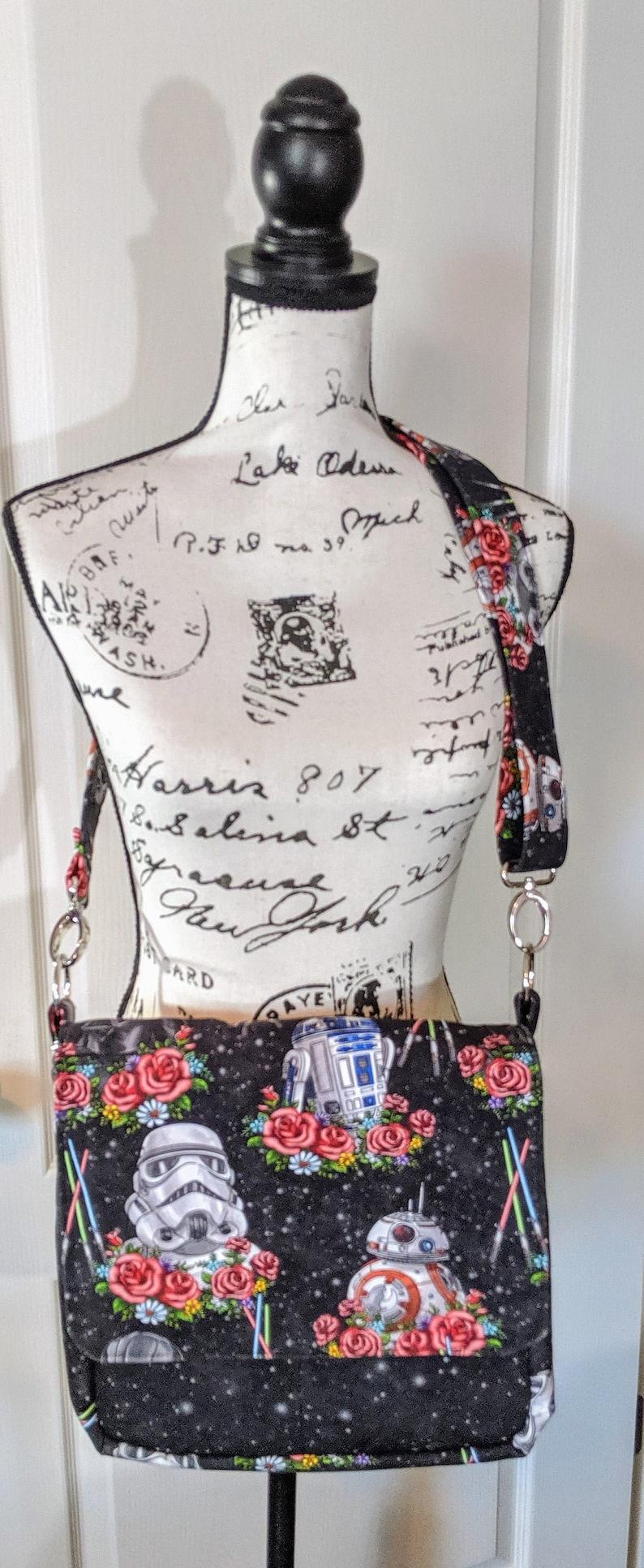 Star Wars Messenger Bag Storm Trooper Bag Black Bag image 0