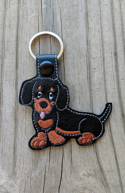 Dachshund keychain Weiner dog gift Dog Accessory Dog Charm image 0