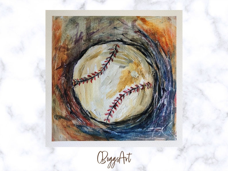 Baseball fine art print  ready to ship gift for baseball fan image 0