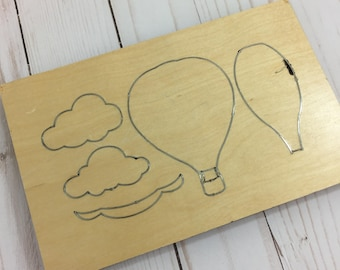 Hot Air Balloon Die | Custom Hot Air Balloon Scrapbooking | Die Cut Balloon