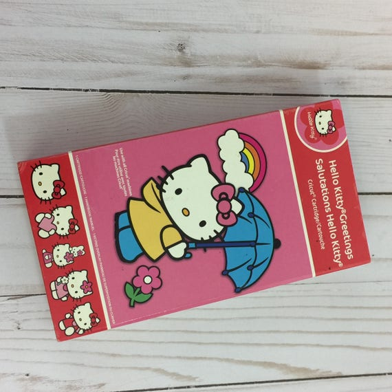 Retired hello kitty cricut cartridge greetings and etsy image 0 m4hsunfo