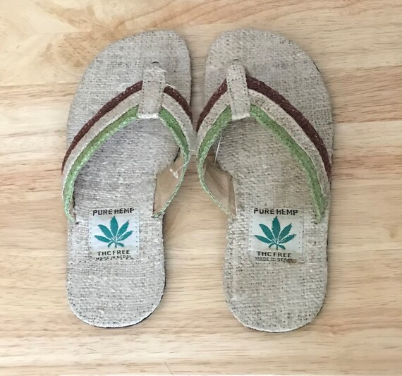 Hemp Hemisphere Flip Flops Summer Hemp Eco Flip Flops Slippers Sandals Unisex Mens Women Beach