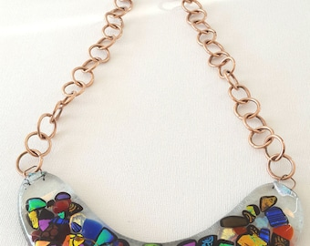 Colorful necklace, multicolor collar, unique necklace, party necklace, event necklace, elegant necklace, summer necklace