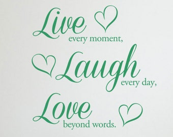 Live, Laugh, Love Vinyl Wall Art Stickers
