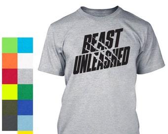 Beast Shirt - Workout Shirt - Gym Shirt - Gym Tee - Gym Apparel - Weight Lifting - Silk Screen T-Shirt - Weight Lifting Shirt - Training