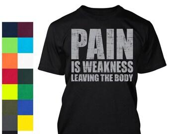 Pain Shirt - Workout Shirt - Gym Shirt - Gym Tee - Weight Lifting - Workout Gear - Gym Gear - Silk Screen T-Shirt - Weight Lifting Shirt