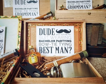 Best Man Box Etsy
