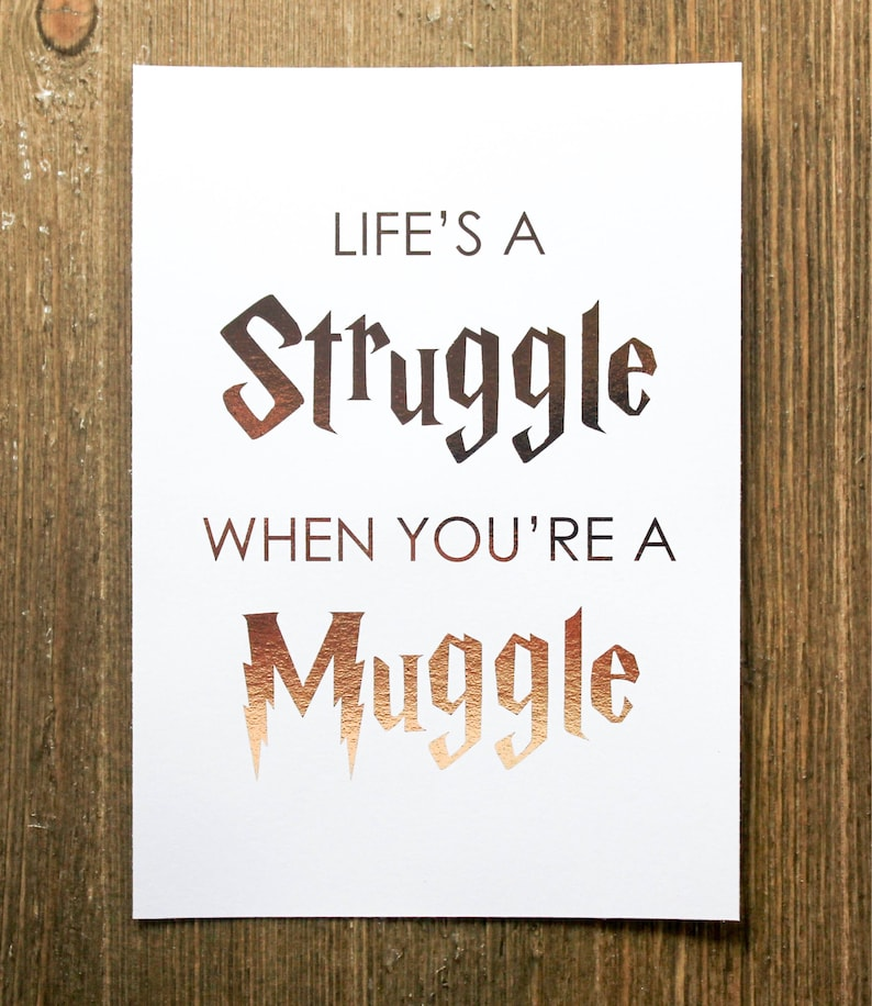 photograph regarding Printable Harry Potter Quotes known as Gold Foil Print Harry Potter Quotation Muggle Wall Artwork