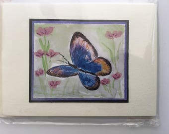 5 beautiful butterfly cards with envelopes