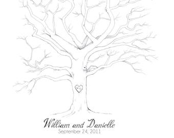 Customizable Fingerprint Tree, Digital Download
