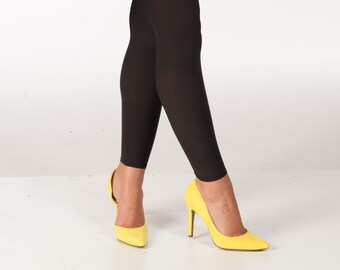 d1a1c788a0e Comfortable Footless Leggings Tights Hipstik Legwear Opaque Lace Stay-Up  No-Squeeze No-Roll (Color: Black) Made in the USA - Woman-Owned