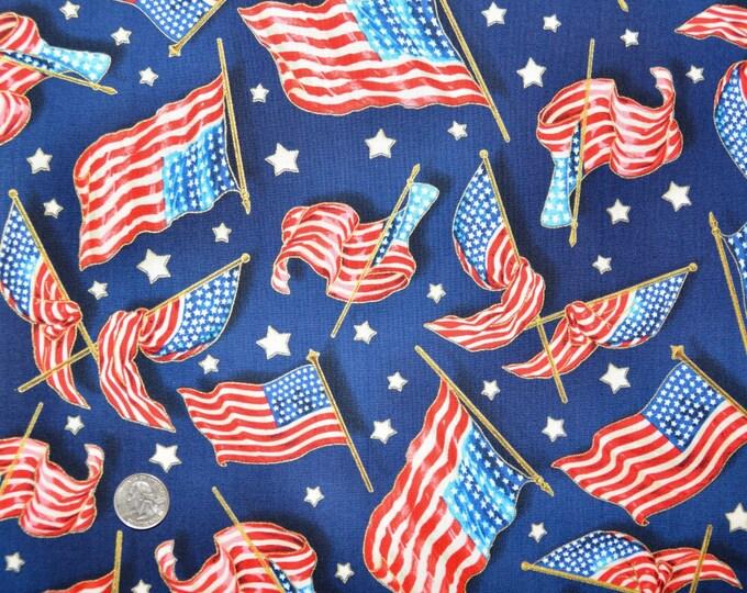 Robert Kaufman Patriots - 100% Kona Cotton  - ATHM-10224-9 Navy