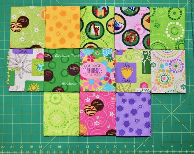 Robert Kaufman Girl Scout Fabric -  Basic Colorstory Friendship Quilt FQ BUNDLE 2 - 100% Kona Cotton - FQ-299-13