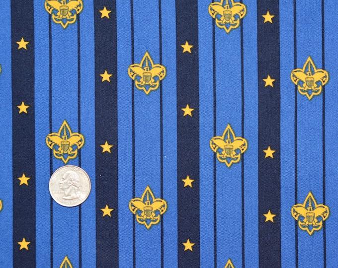 Robert Kaufman Registered Boy Scout Fabric - 100% Kona Cotton - RARE