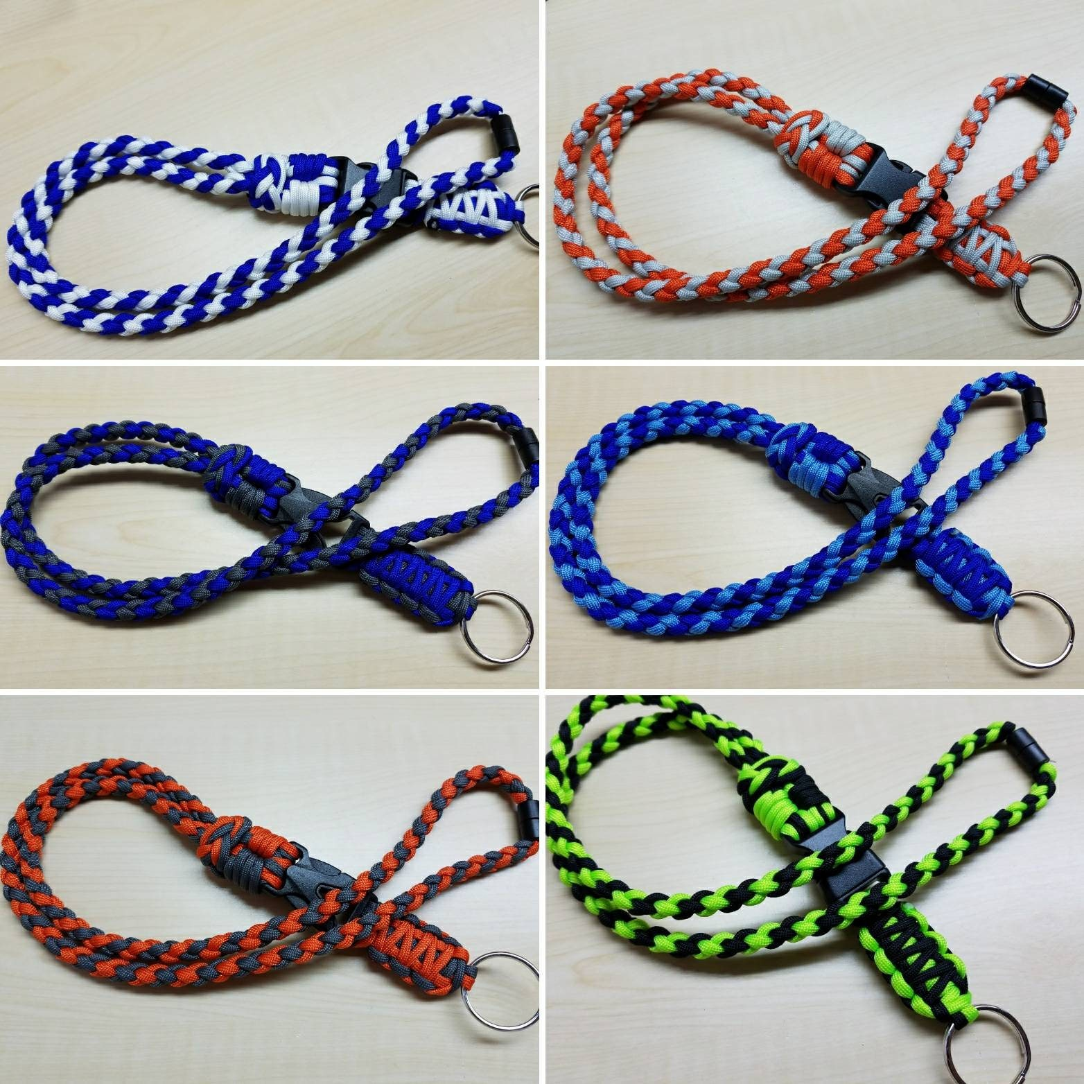 id badge middleweight paracord lanyard with neck breakaway buckle