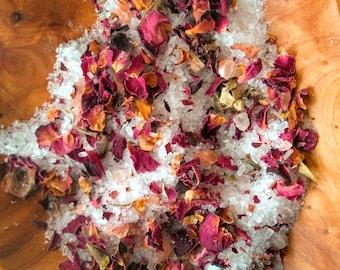 Organic Bath Salts-Natural Bath Salts-Rose Bath Salts-Rose Petal Bath-Rose Bath Soak-Organic Bath Soak-Natural Bath Soak-Flower Petal Bath