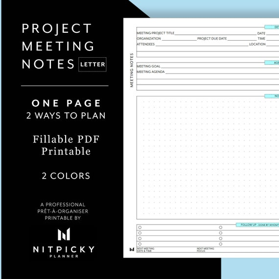 Project Meeting Notes Template from i.etsystatic.com