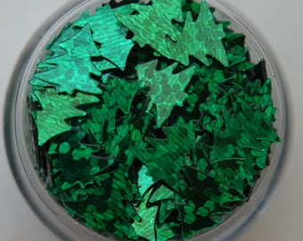 Green Iridescent Christmas Tree Glitters. 5 grams