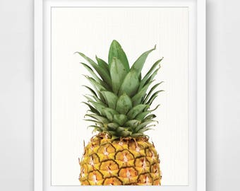 Pineapple Print, Watercolor Pineapple Wall Art, Pineapple Printable Art, Pineapple Wall Print, Wall Decor, Tropical Wall Art, Tropical Print