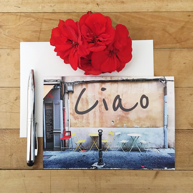 Greeting Card Photo Card Blank Card Ciao Italian Cafe Photography