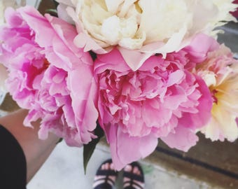 Peony, Peonies, Bouquet, Peony Photo, Pink, Spring, Floral, Wall Art, Floral Wall Art, BonneRoutePhotos, Love