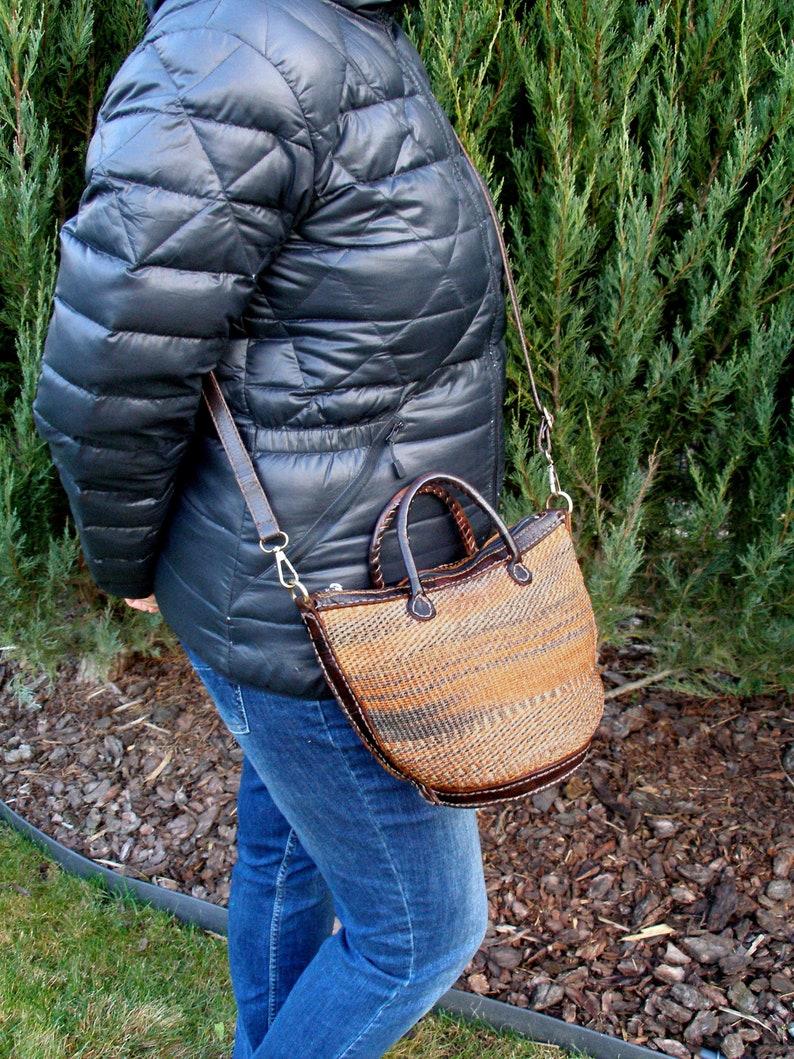 sisal leather bag-sisal shoulder bag-vintage sisal tote bag-jute shopper market bag sisal beach bag-wicker beach tote bag-boho sisal bag