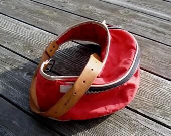 hip bag, belt wallet, belt bag, leather belt pouch, pouch case, waist bag, festival bag, red belt bag, leather pounch leather belt bag