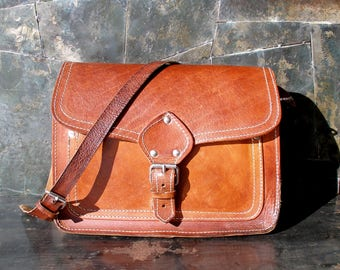 leather briefcase, tan leather bag, women leather bag, briefcase, leather satchel, vintage briefcase, women's briefcase, woman leather case