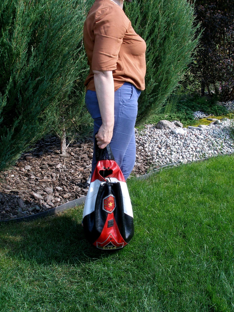 black white red leather backpack men women Vintage Bag Sac backpack office travel school rucksack leather rucksack biker backpack