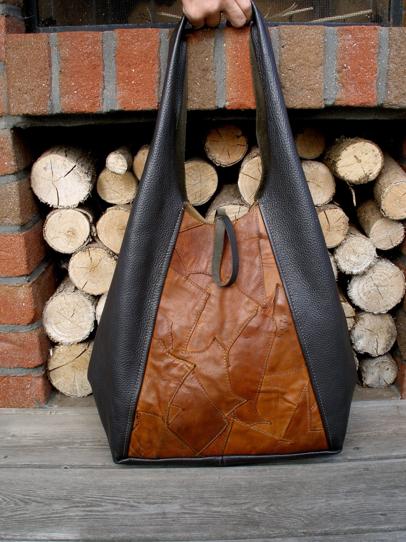leather tote bag market bag leather handbag brown tote bag  6b8c26b88a2c2